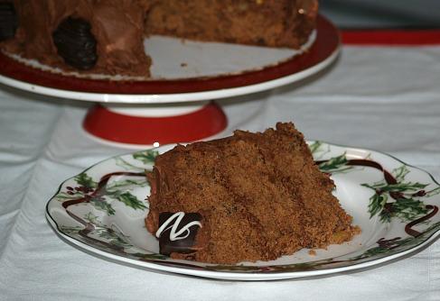 Piece of Chocolate Mincemeat Cake