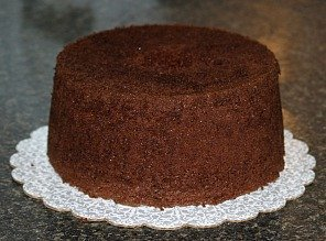 Chocolate Mint Cake Recipe Assemble Step 1