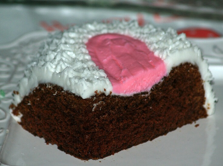 Moist Chocolate Bunny Cake Piece