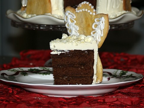 Chocolate Truffle Angel Cake for the Holidays