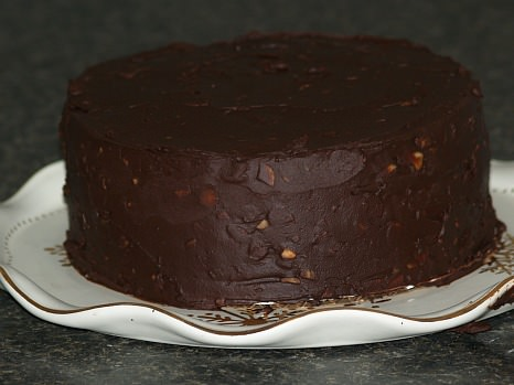 Cake Filled and Frosted with Chocolate Truffle