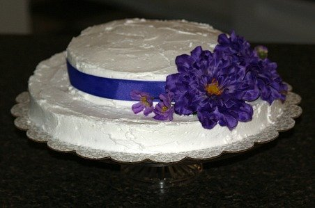 Confetti Cake Shaped in an Easter Bonnet
