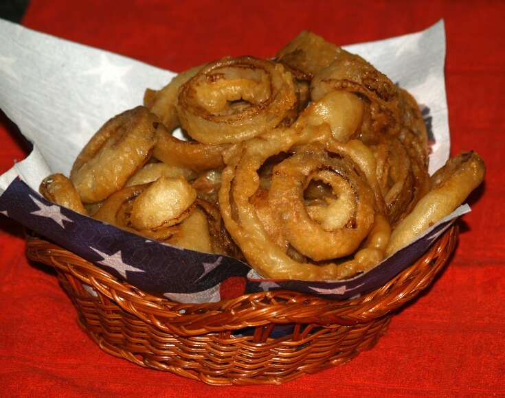 Fried Beer Battered Onion Rings
