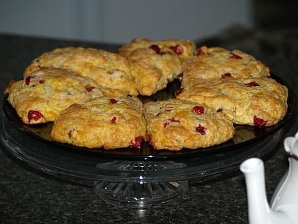 how to make cranberry scones