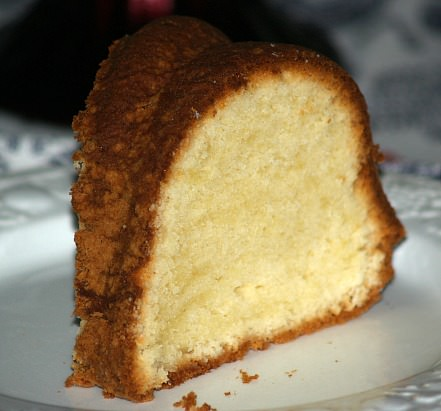 Cream Cheese Pound Cake Piece