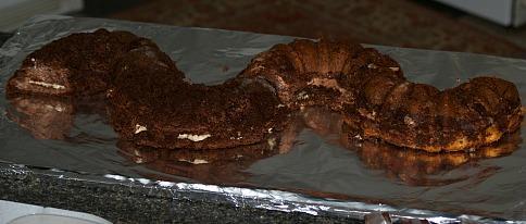 Un-frosted Bundt Cakes Assembled