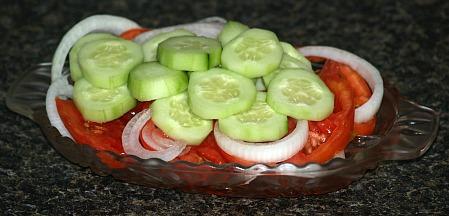 basic cucumber tomato salad