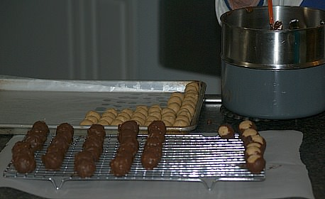 Dipping Candy in Chocolate