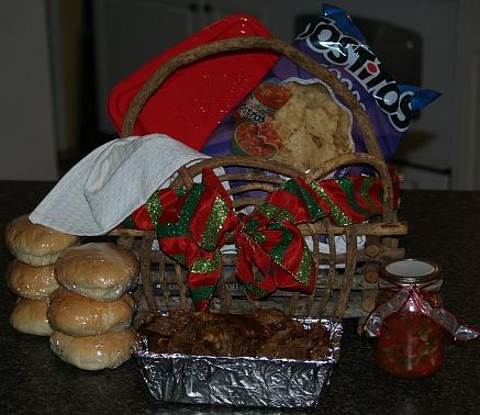 how to make food gift baskets for christmas