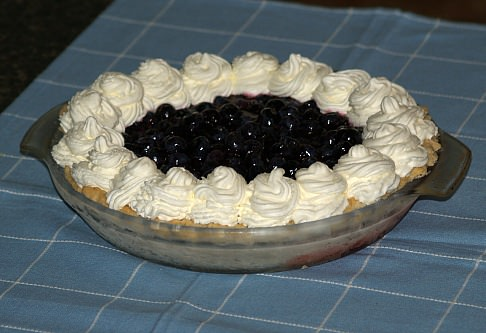 Fresh Blueberry Pie Recipe with Whipped Cream