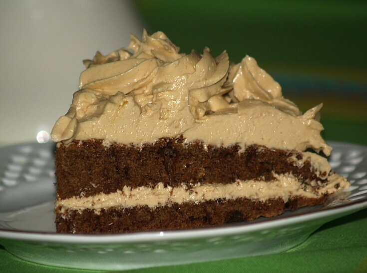 Chocolate Chip Sponge Cake with the French Coffee Buttercream Filling