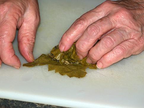 Step Three Stuffing Grape Leaf