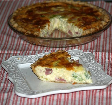 Ham Cheese Quiche Recipe with Broccoli