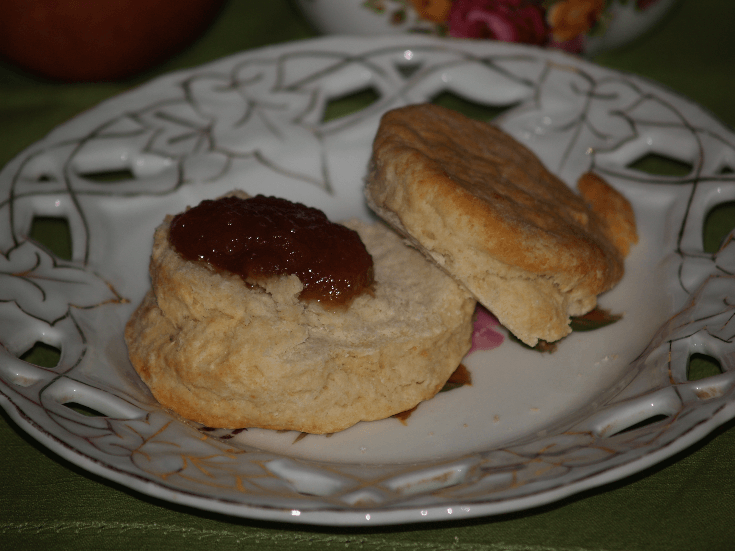Apple Butter Served on a Biscuit