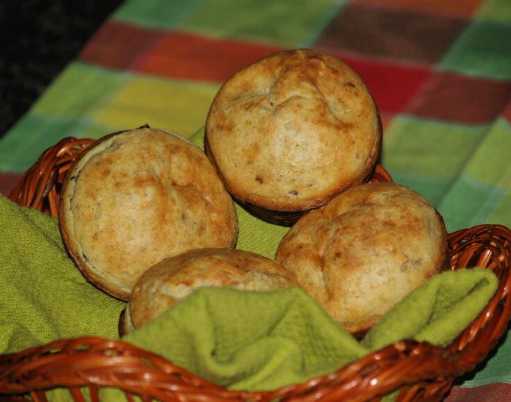 Fresh Baked Pecan Popovers Recipe
