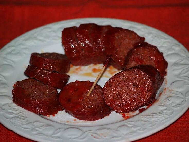Glazed Barbeque Salami