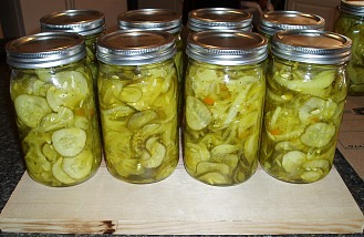 Home Canned Bread and Butter Pickles