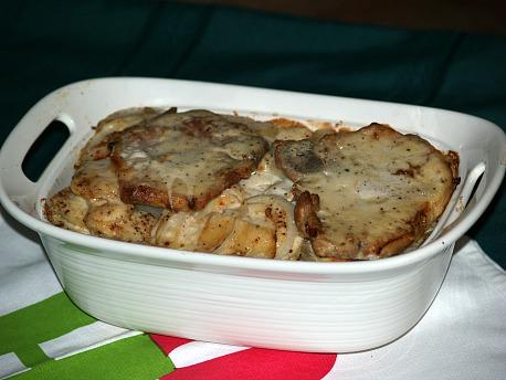Potatoes and Pork Chops
