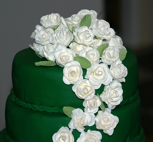 Gum Paste Flowers on Irish Wedding Cake