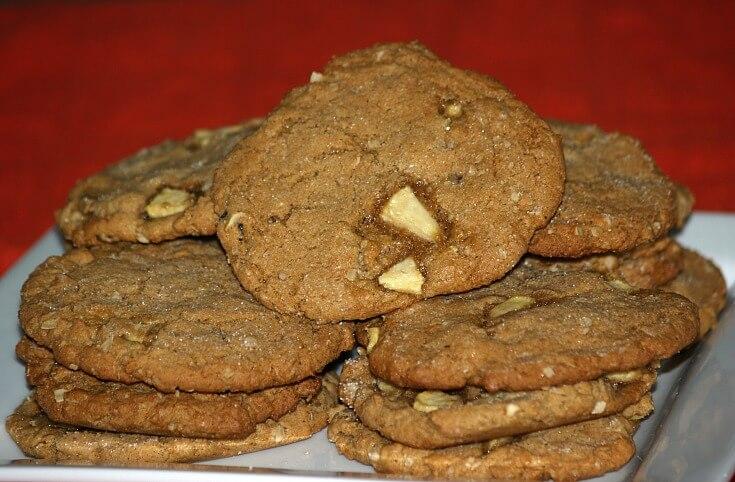 Jumbo Peanut Butter Apple Cookies