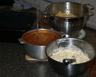 Preparing Lasagna Step 1