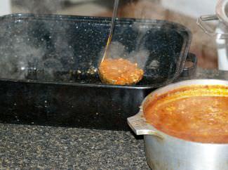 Preparing Lasagna Step 2