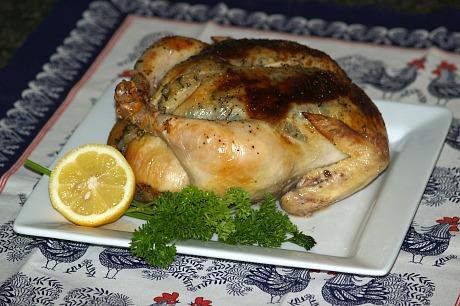oven roasted lemon parsley chicken