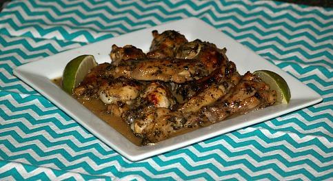 key lime glazed chicken wings