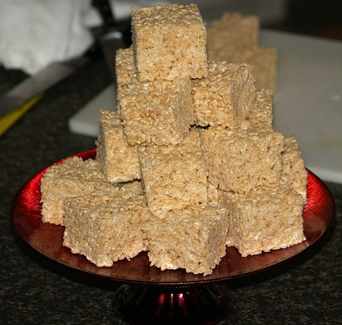 How to Make Rice Krispy Treat Bars with Marshmallows