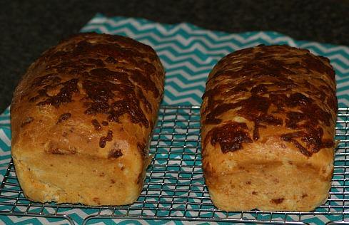 Two Loaves of Mozzarella Cheese Bread Recipe