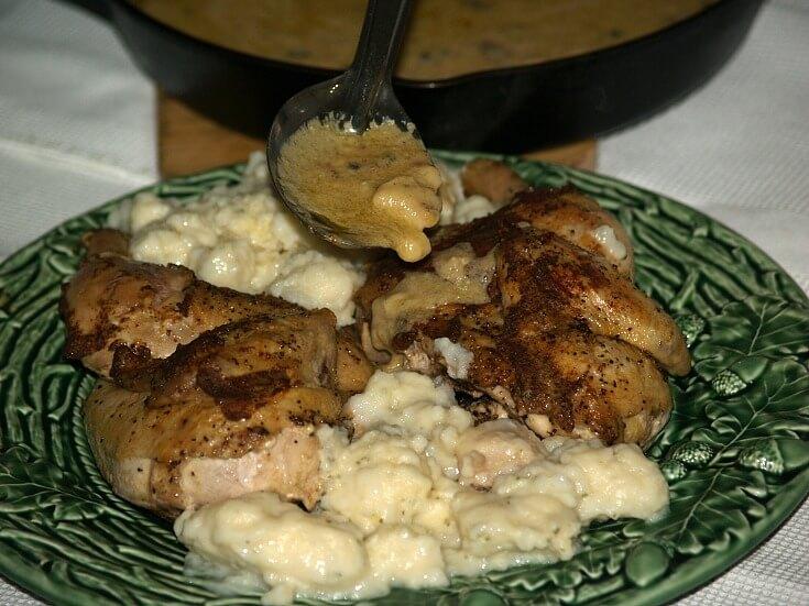 Mustard Chicken with Cream Sauce