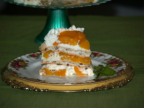 Peach Meringue Torte Recipe