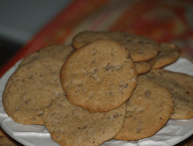 Pecan Spice Shortbread Cookies