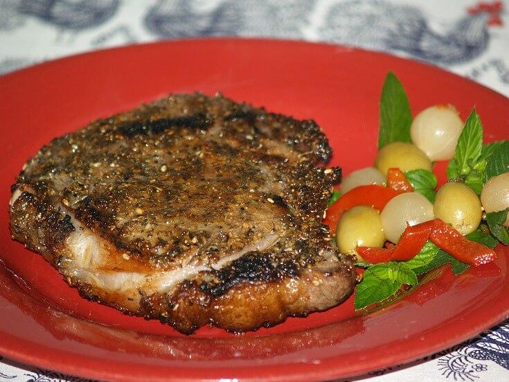 Peppered Rib Eye Steak Recipe