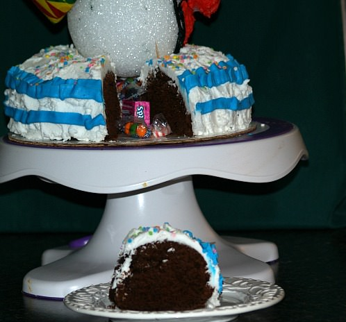 Piece of Pinata Clown Cake