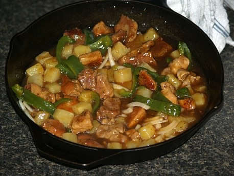 Preparing Sweet and Sour Pork