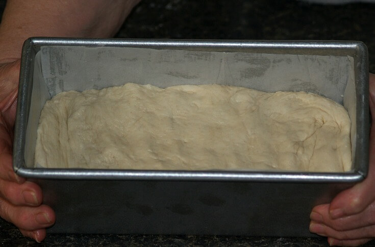 Dough in Pullman Pan