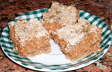 Pumpkin Bars made with Butter Substitutes