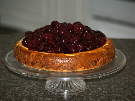 how to make a recipe for cherry cheesecake