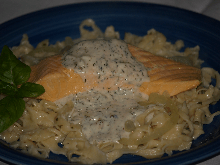 Cooking Salmon with Dill Sauce