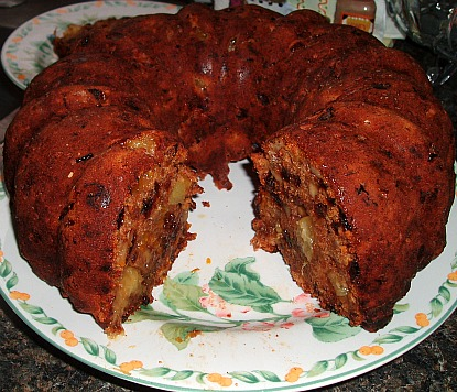 Sausage Cake Cut