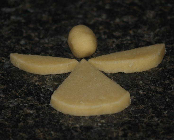 Christmas Angel Slice Cookie