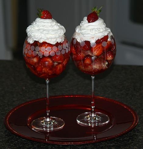 strawberry shortcake made with sponge cake