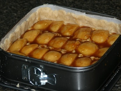 Sugar Free Apple Cheesecake Ready for the Oven