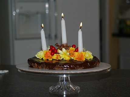 how to make an easy thanksgiving centerpiece from a chewy brownie recipe