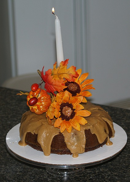 apple carrot cake makes an easy thanksgiving centerpiece