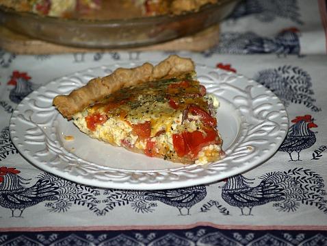 Best Quiche Recipe is a Tomato Salami Quiche