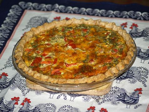 tomato salami quiche