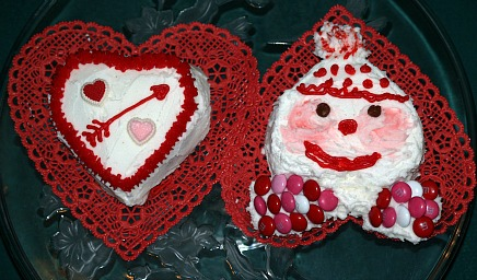 Heart Shaped Cakes and Clown Cakes