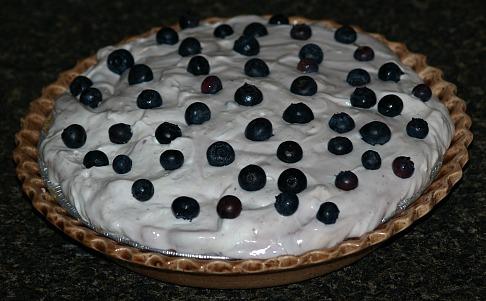 how to make yogurt pie recipe with fresh blueberries